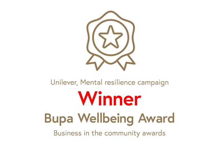 Business in the Community certificate, Bupa Wellbeing Award Winner