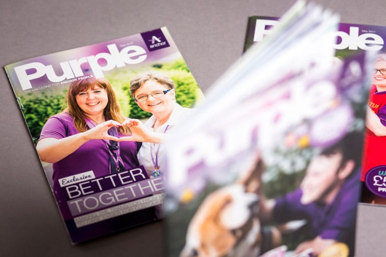 Copies of Anchor news magazine Purple