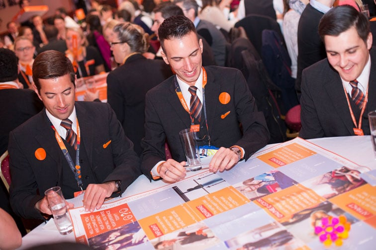 easyJet colleagues playing the customer experience board game