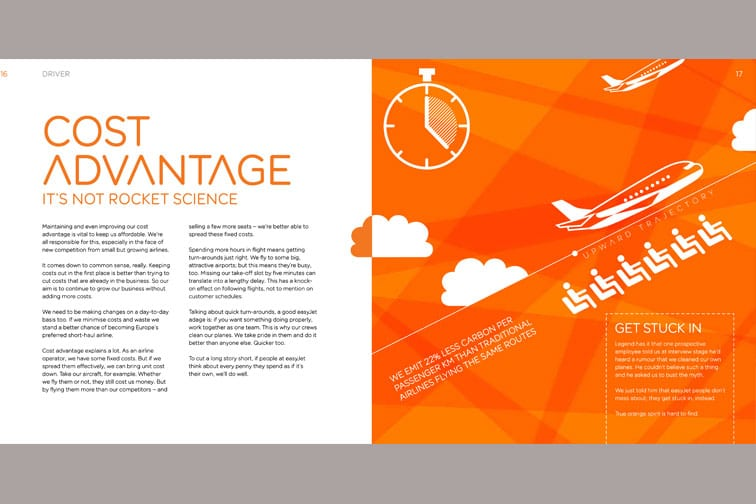 Excerpt from easyJet customer experience booklet
